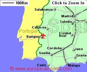 Map Of Spain Airports.Badajoz Airport Spain Bjz Guide Flights