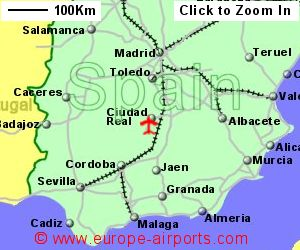 Map Of Central Spain.Ciudad Real Central Airport Spain Cqm Guide Flights