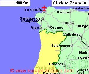 LA CORUNA SPAIN MAP Imsa Kolese