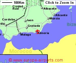 Map Of Spain Almeria.Almeria Airport Spain Lei Guide Flights
