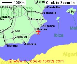 Show Murcia On Map Of Spain.Murcia San Javier Airport Spain Mjv Guide Flights