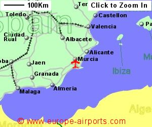 Map Of Spain Murcia.Murcia International Corvera Airport Spain Rmu Guide