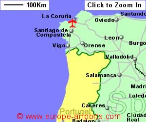 Map Of Spain With Airports.Santiago De Compostela Airport Spain Scq Guide Flights