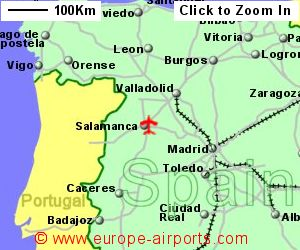 Map Of Spain With Airports.Salamanca Airport Spain Slm Guide Flights