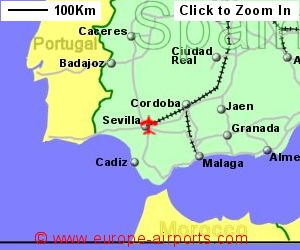 Map Of Spain With Airports.Seville Sevilla San Pablo Airport Spain Svq Guide Flights