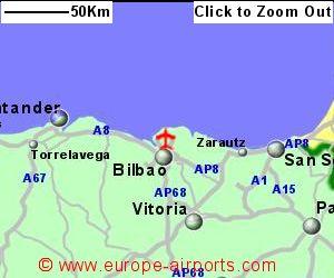 Bilbao On Map Of Spain.Bilbao Airport Spain Bio Guide Flights