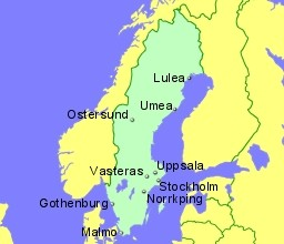 Airports In Sweden With Flights From The UK And Ireland - Sweden map airports