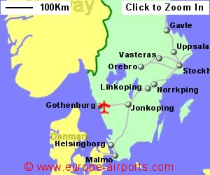 GothenburgLandvetter Airport Sweden GOT Guide Flights - Sweden map airports