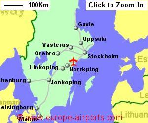 StockholmSkavsta Airport Sweden NYO Guide Flights - Sweden map location