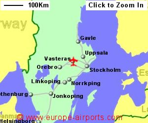 Stockholm vasteras airport sweden vst guide flights map showing location of stockholm vasteras airport sweeden publicscrutiny Image collections