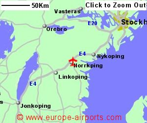 Norrkoping Airport Sweden NRK Guide Flights