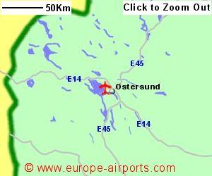 Ostersund Airport Sweden OSD Guide Flights - Sweden map ostersund
