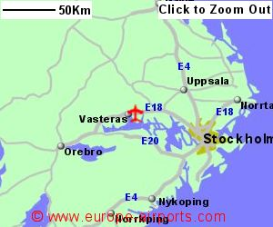 Stockholm Vasteras Airport Sweden VST Guide Flights - Sweden map airports