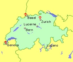 Airports in Switzerland with Flights from the UK and Ireland