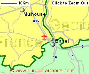 Basel BaselMulhouseFreiburg Airport Switzerland BSL Guide - Basel mulhouse freiburg map