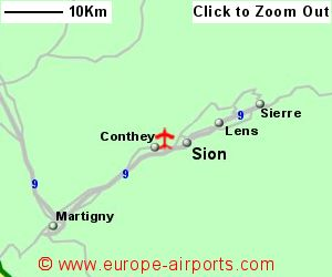 Sion Airport Switzerland SIR Guide Flights