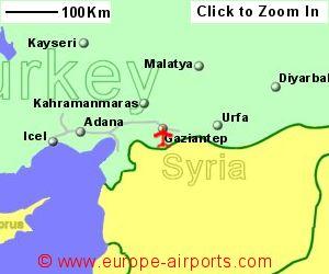 Gaziantep Ouzeli Airport Turkey GZT Guide Flights
