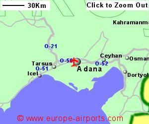 Adana Sakirpasa Airport Turkey ADA Guide Flights
