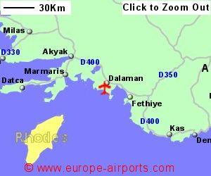 Dalaman Mugla Airport Turkey DLM Guide Flights