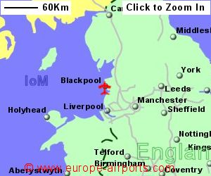 Map Of England Showing Airports.Blackpool Airport Blk Guide Flights
