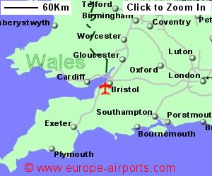 Map Of Uk Bristol.Bristol Airport Brs Guide Flights