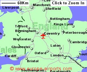 Map Of England Showing Airports.Map England Showing Coventry
