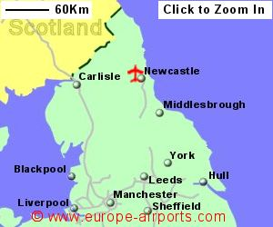 Map Of Uk Newcastle.Newcastle Airport Ncl Guide Flights