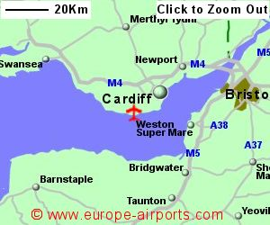 Cardiff Airport Map Cardiff Airport (CWL)   Guide & Flights