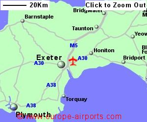 Map Of Uk Exeter.Exeter Airport Ext Guide Flights