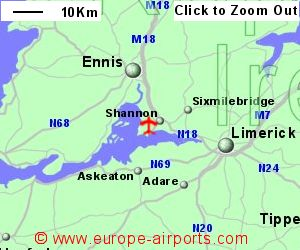 map of ireland shannon airport Shannon Airport Snn Guide Flights map of ireland shannon airport