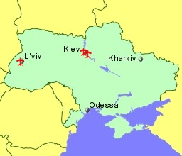 Airports in Ukraine with Flights from the Uk and Ireland